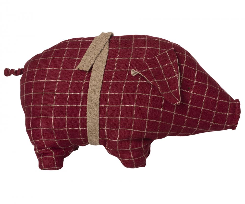 Maileg Schwein rot medium 2020 - Kopie